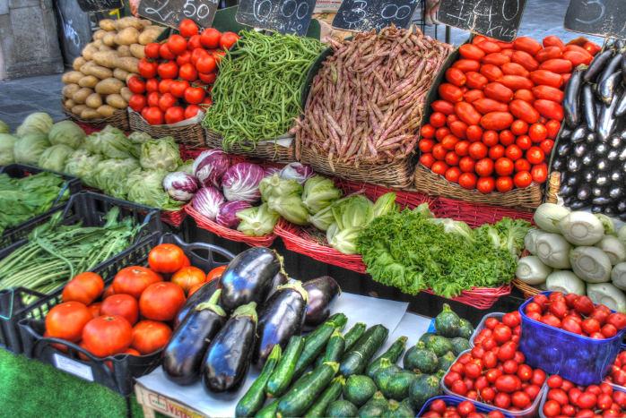 Groente op markt